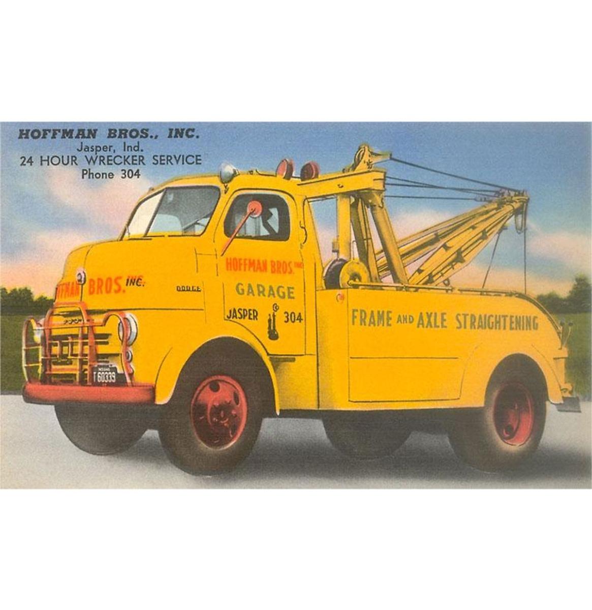 Grote Gele Sleepwagen - Vintage Foto, Kunst Afdruk