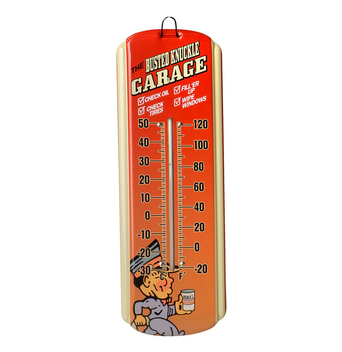 The Busted Knuckle Garage Mini Thermometer