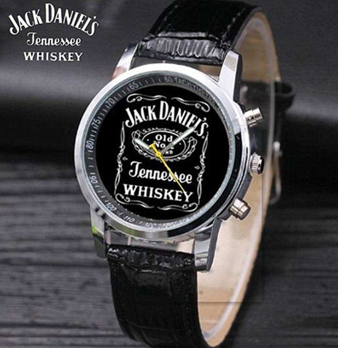 Jack Daniel's Horloge Zwart Glimmend Bandje