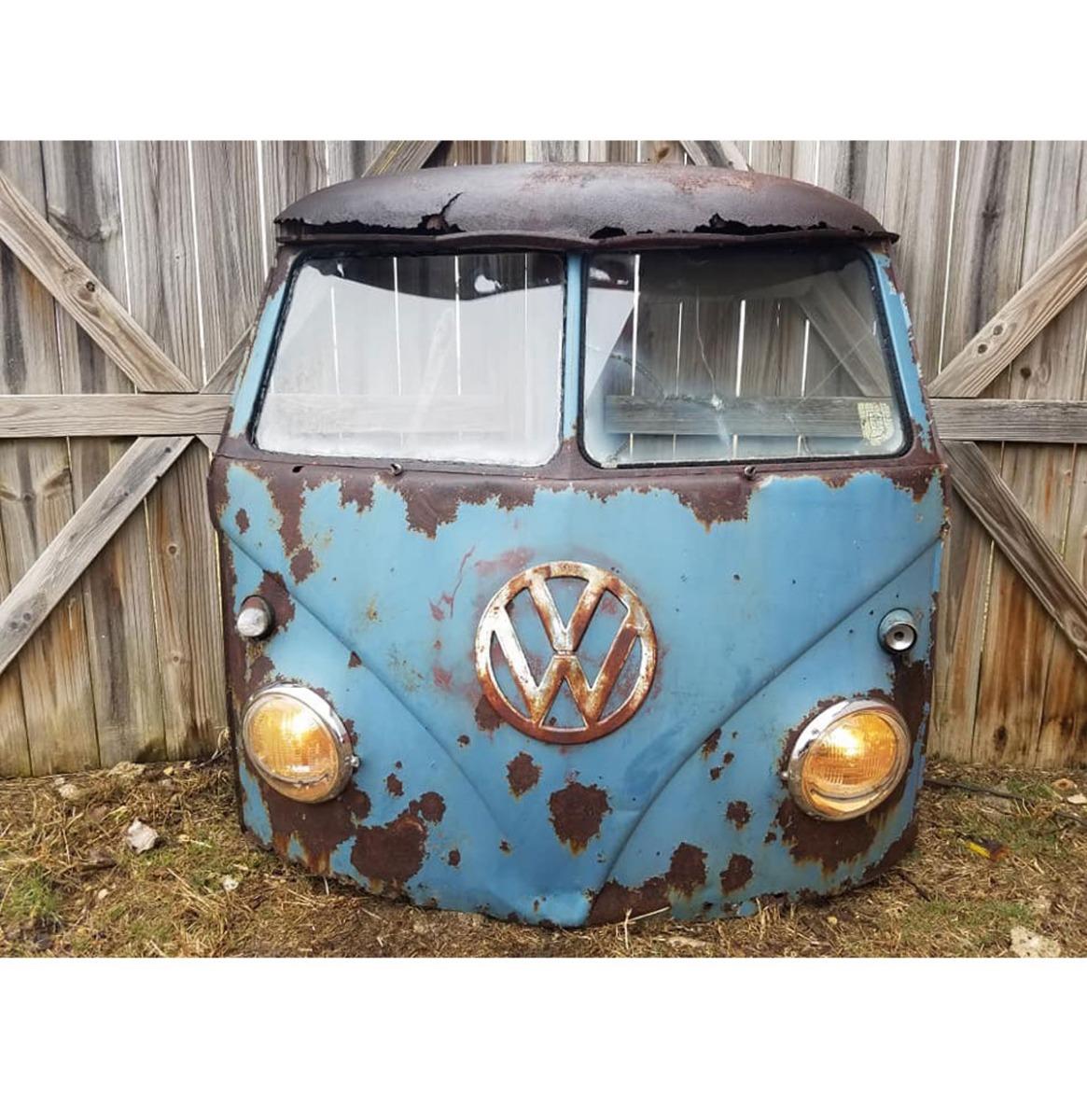 Volkswagen Minivan Voorkant - Zeldzame Gesplitste Ruiten - Origineel - Blauw