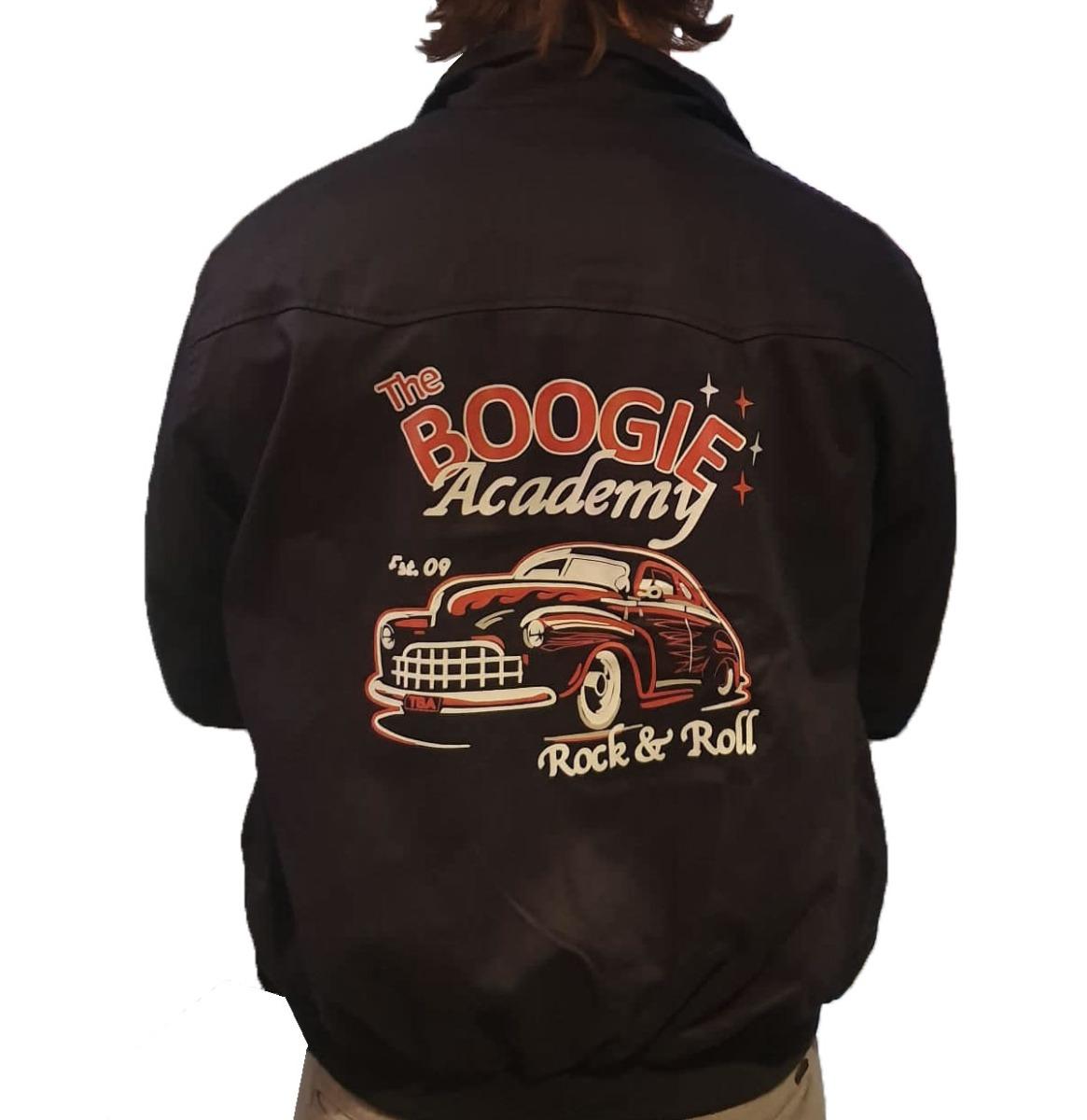 Banned Harrington Boogie Academy Jacket Blauw