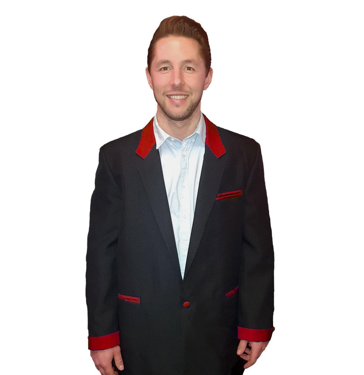 Box Jacket Zwart / Rood