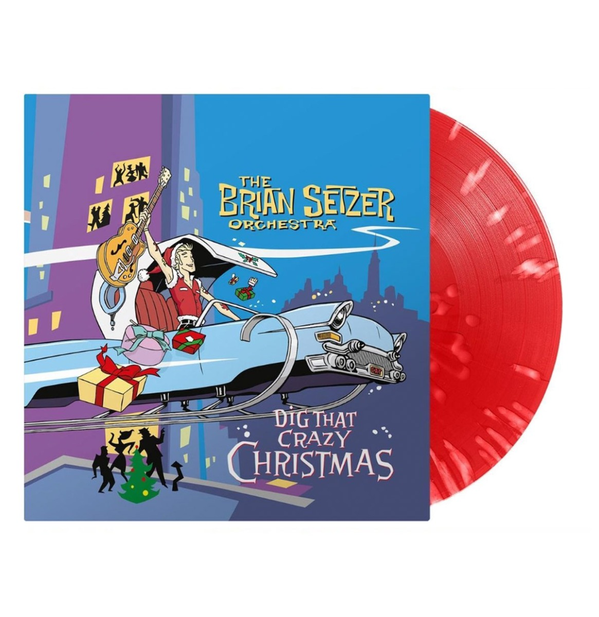 The Brian Setzer Orchestra - Dig That Crazy Christmas Special Edition Red / White Splatter Vinyl LP
