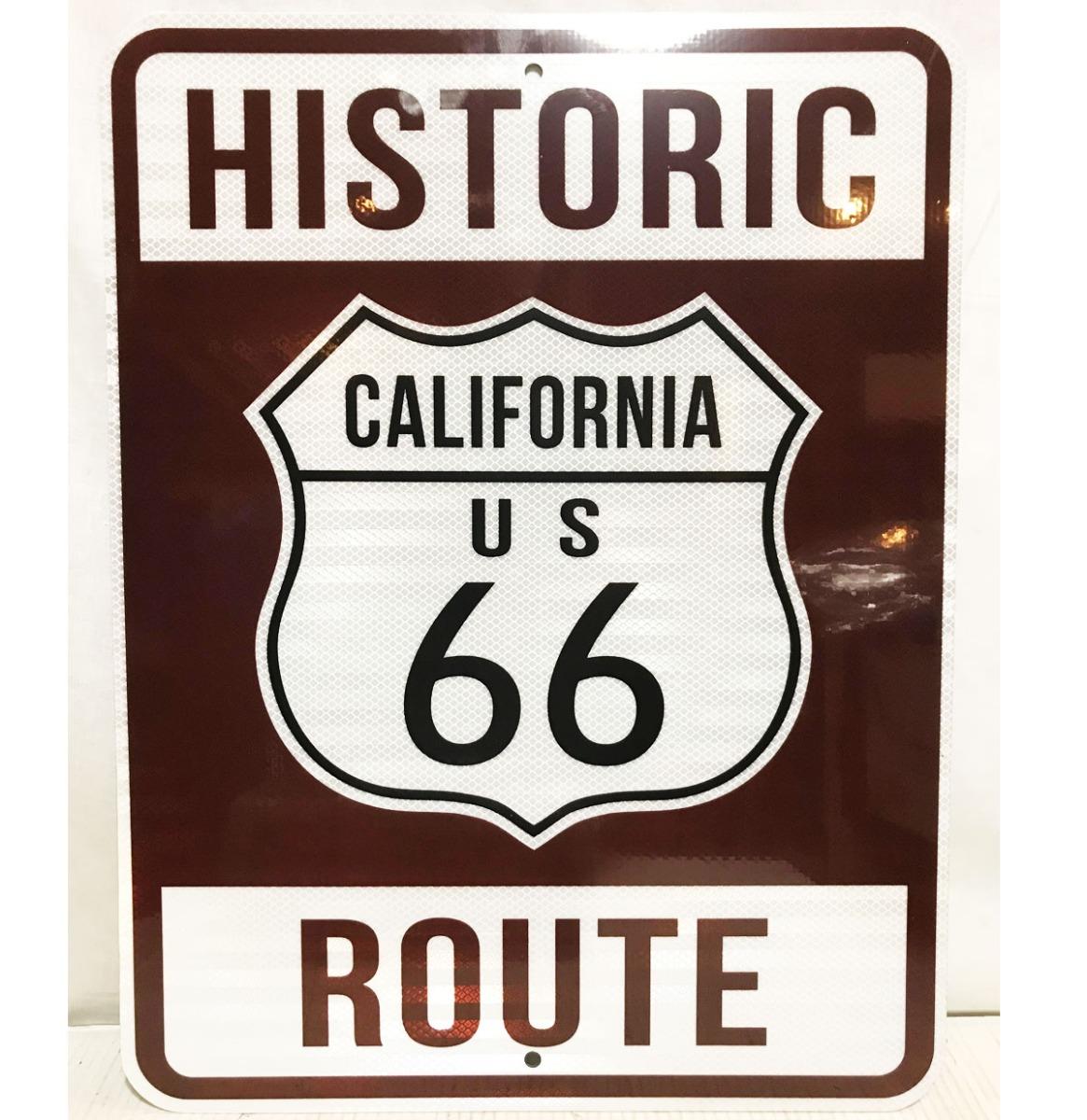 Historic Route 66 California Snelweg Bord - Reflecterend