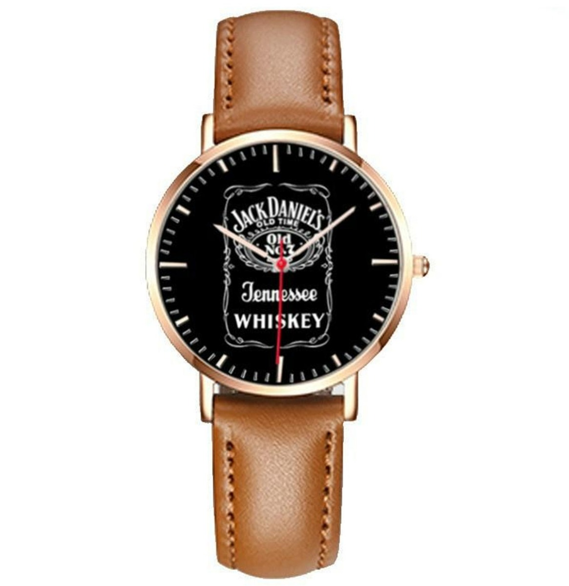 Jack Daniel's Horloge Bruin Bandje