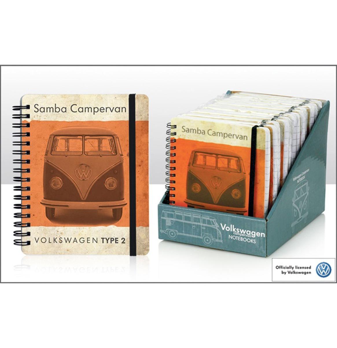 Volkswagen Vintage Oranje Camper Notitieboek 12 x 15cm