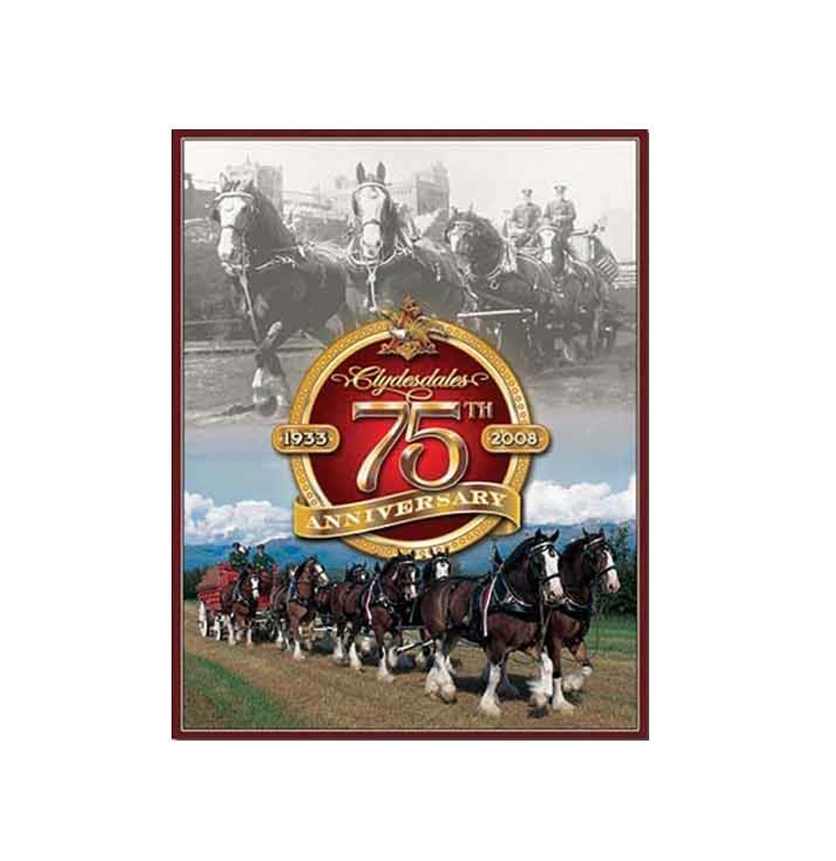 Budweiser Clydesdales 75th Anniversary Metalen poster