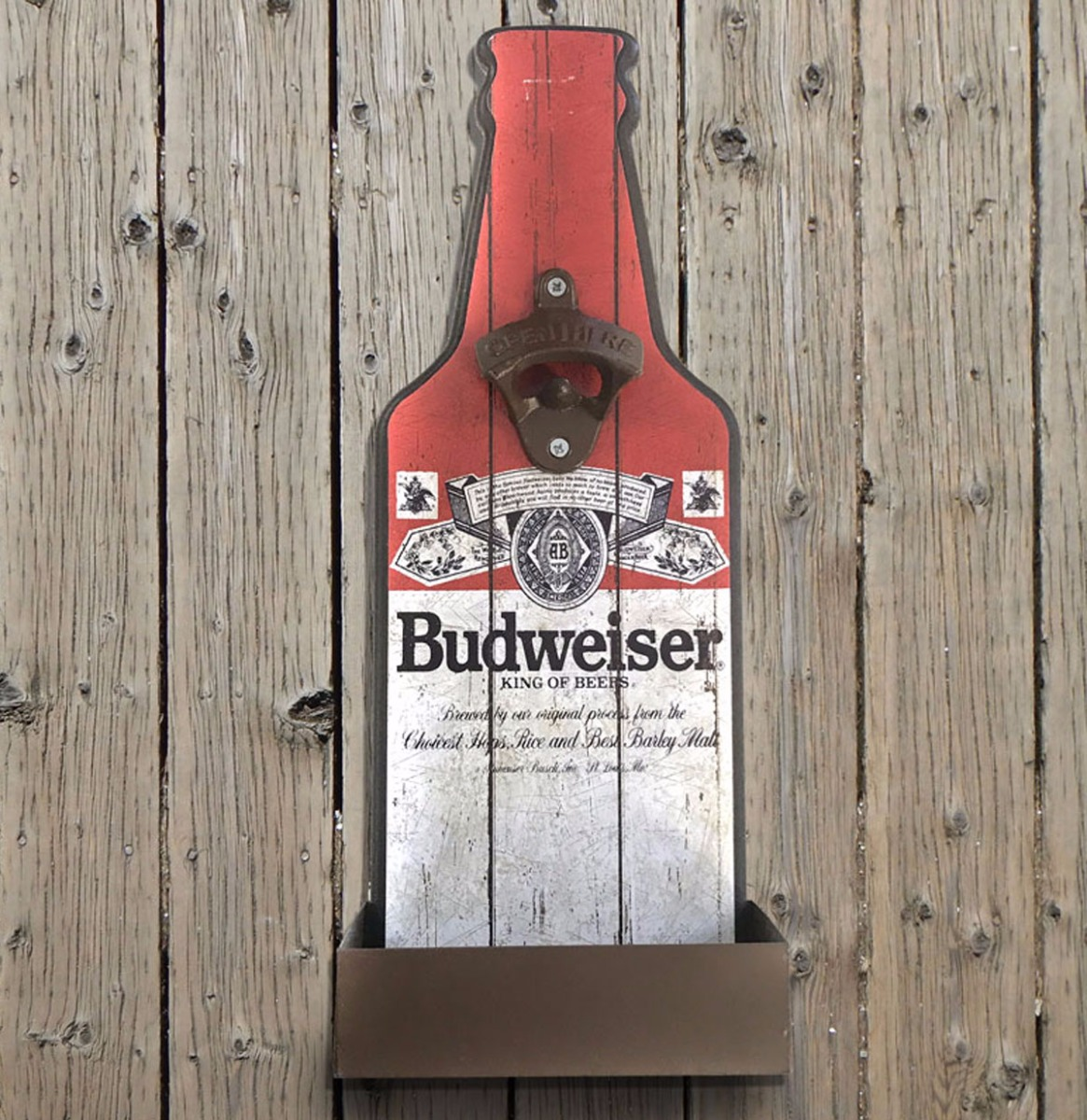 Budweiser Flesvormige Opener en Dopvanger