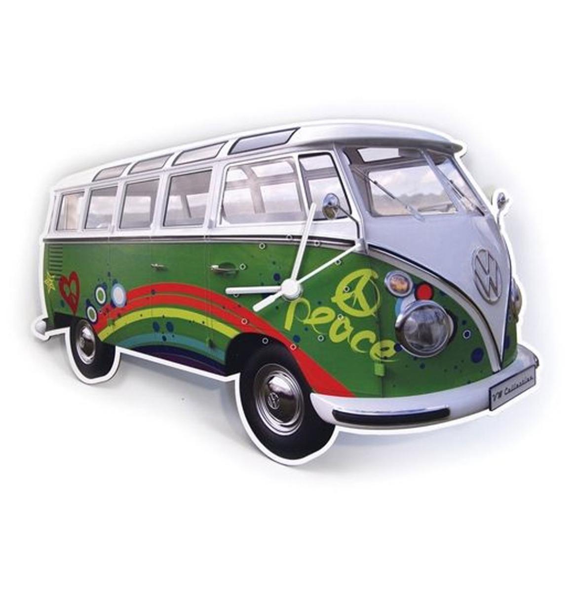 Brisa Wandklok Volkswagen T1 bus Bulli Kleur Groen online kopen
