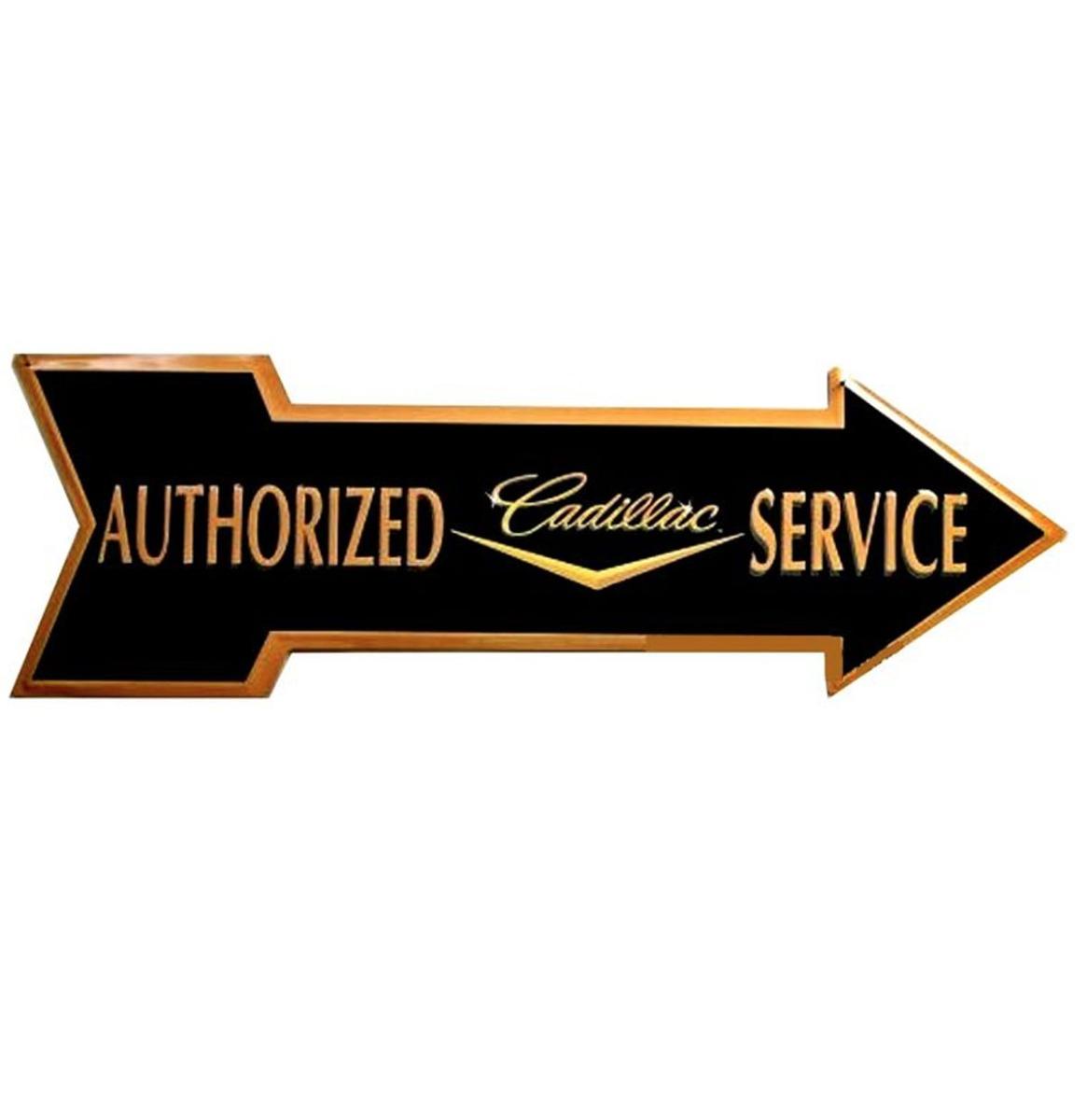 Cadillac Service Arrow Aluminum Sign 69 x 21 cm