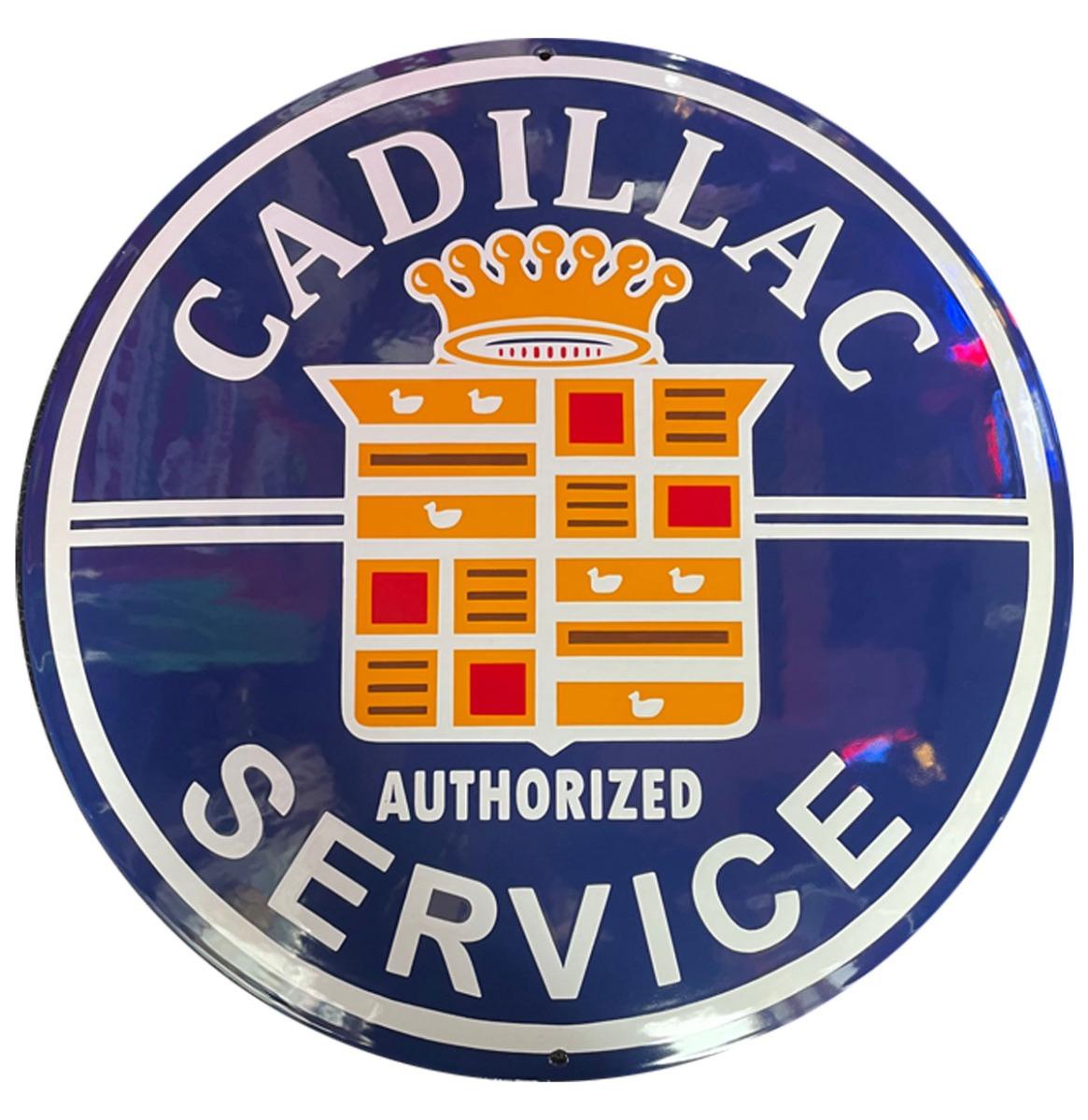 Cadillac Service Emaille Bord - 50 cm ø