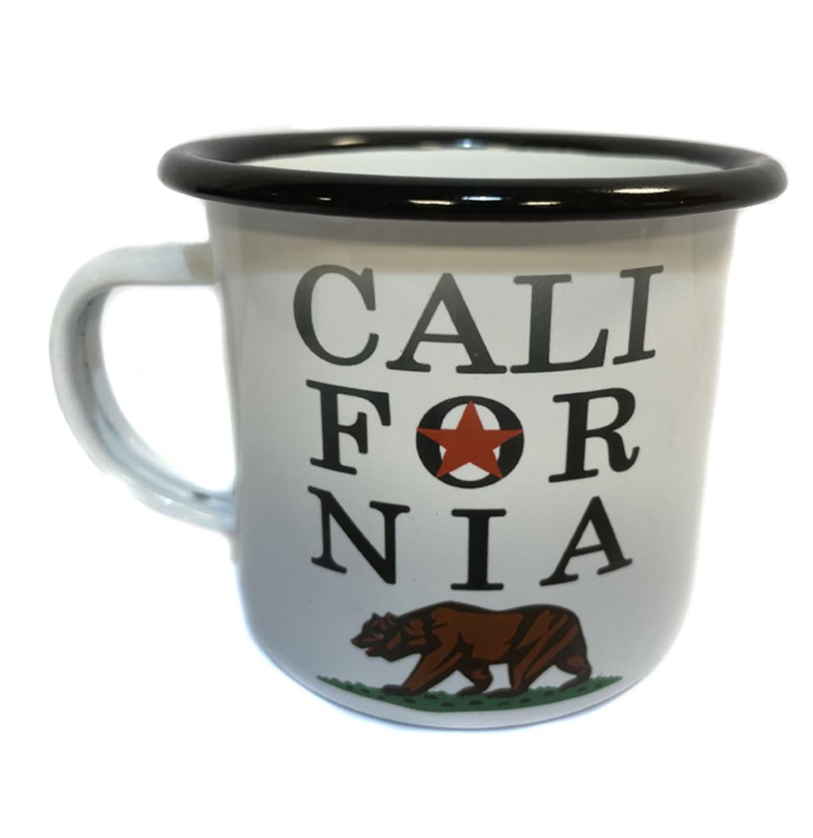 California Bear State Logo Emaille Mok