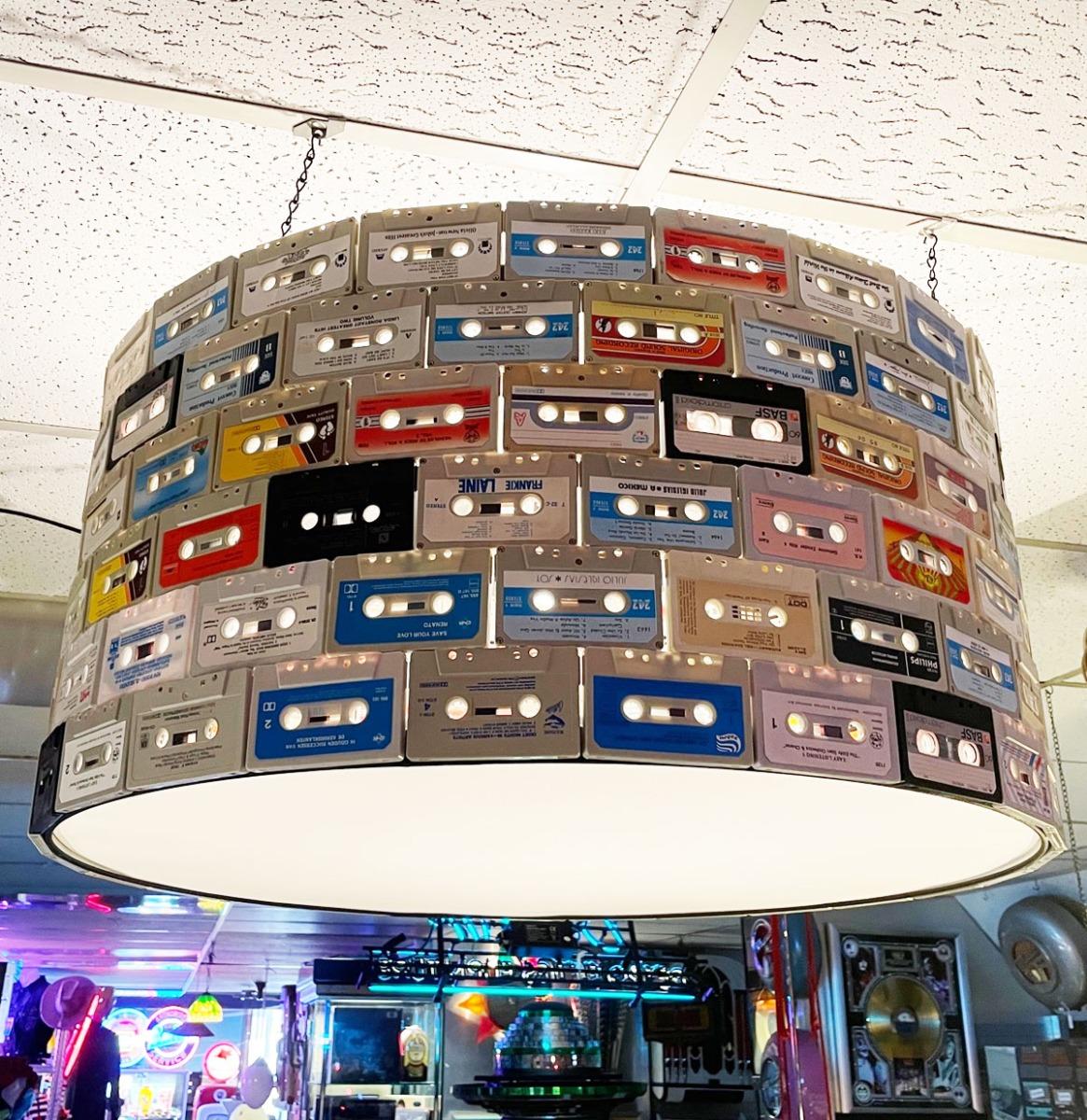 Cassette Tape Lampenkap Met Echte Cassette Bandjes