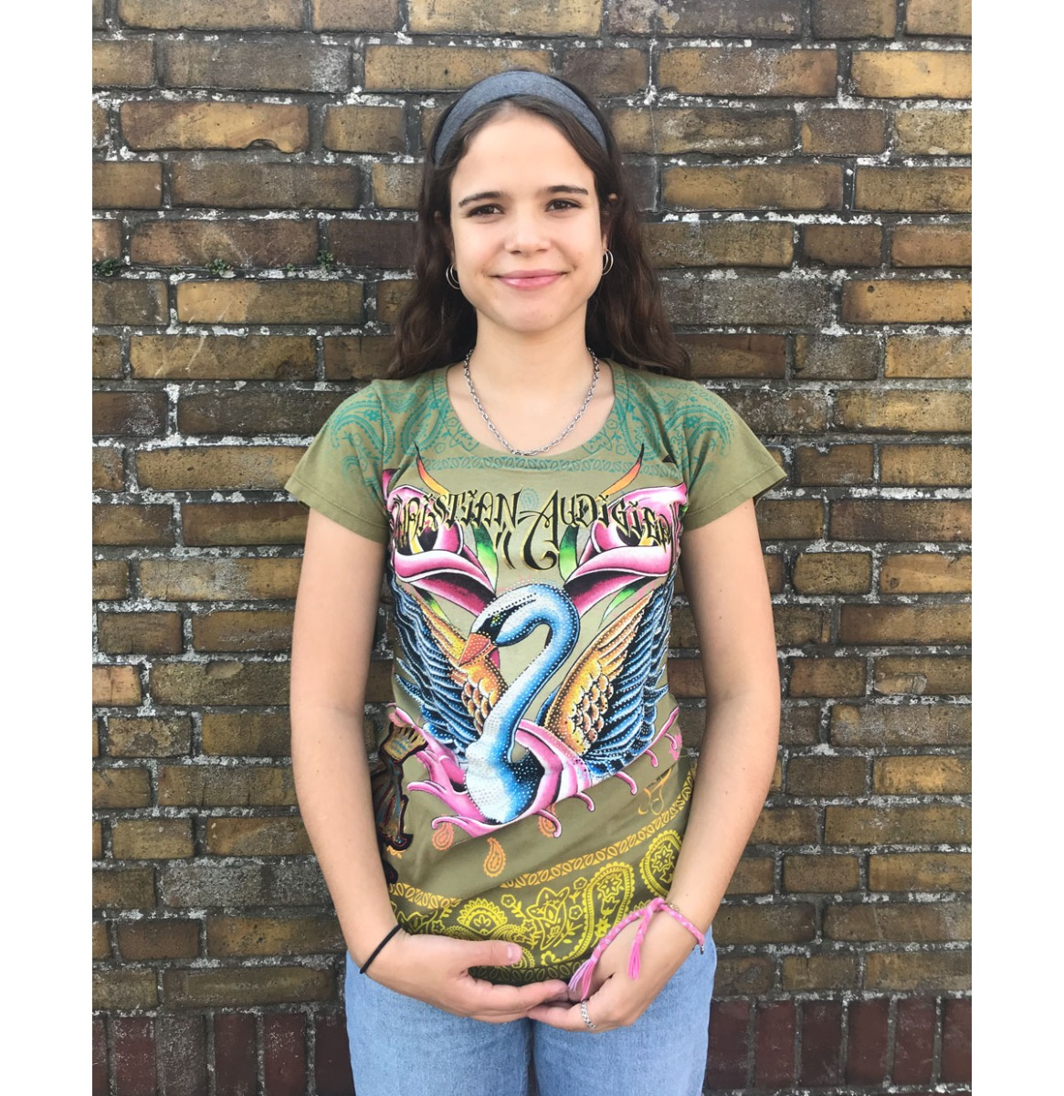 Christian Audigier Swan Dames T-shirt