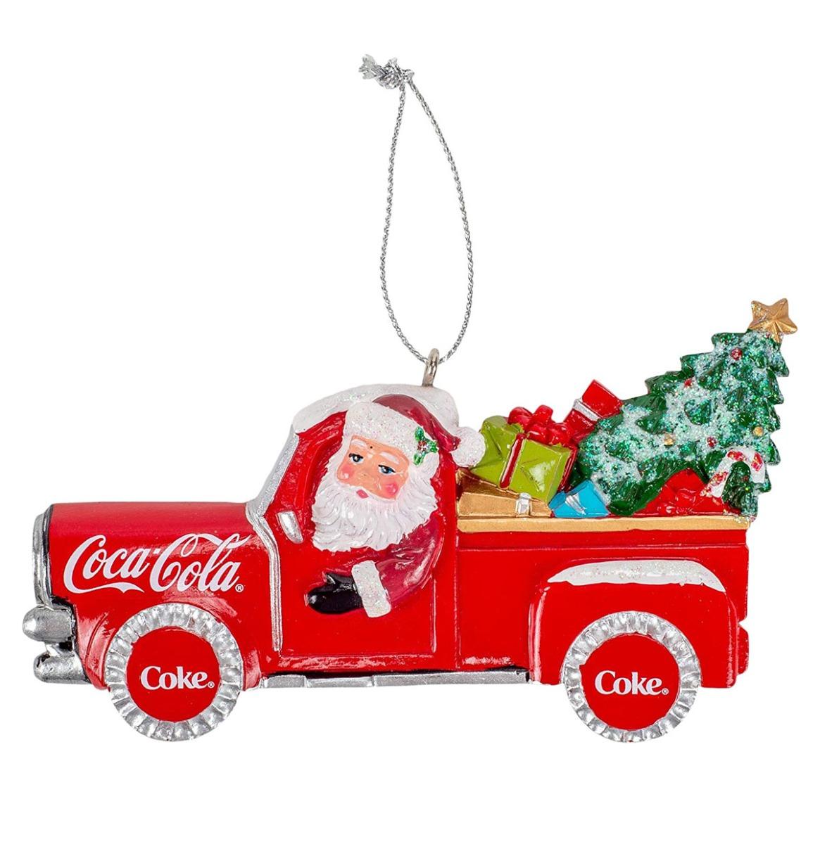 Kurt S. Adler Coca-Cola Santa Pick-Up Truck Hanging Ornament