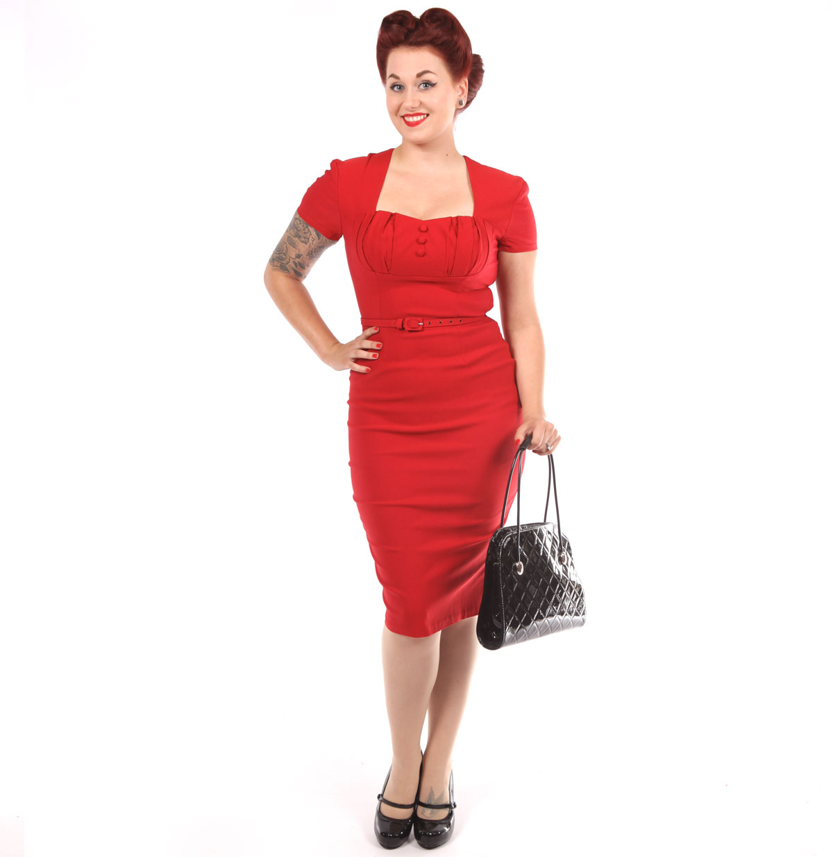 Pinup Couture Charlotte Jurk Rood