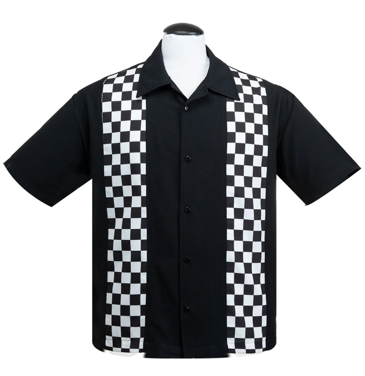 Steady Clothing Checkered Mini Panel Shirt Zwart / Wit