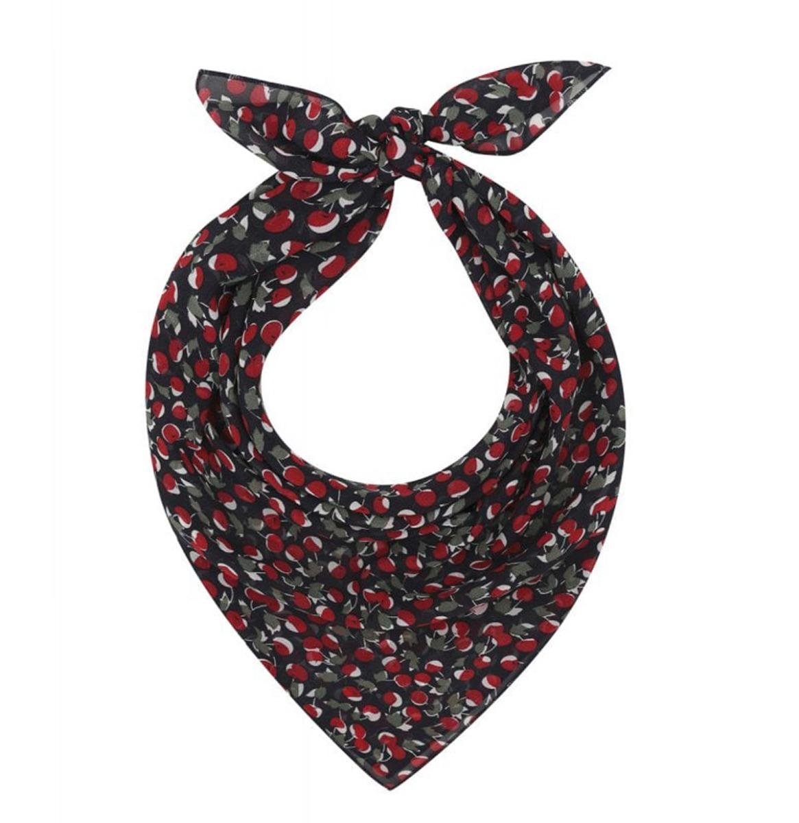 Cherries Field Scarf Black