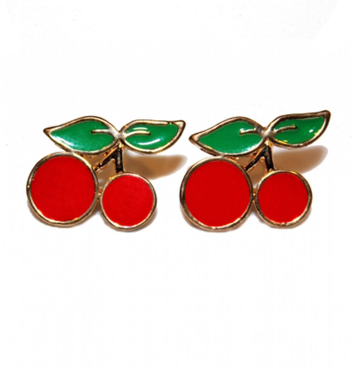 Cherry Studs, Red