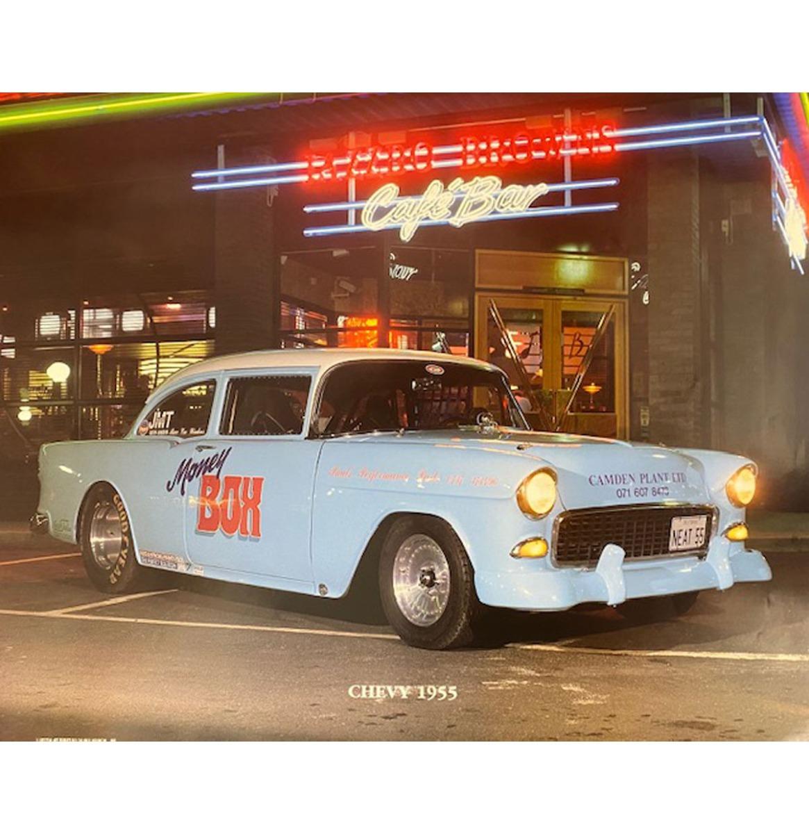 Auto Poster Chevy 1955 40x50cm