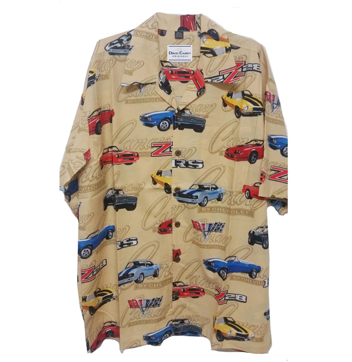 Cars Shirt Chevy Vintage Camaro Camp Creme