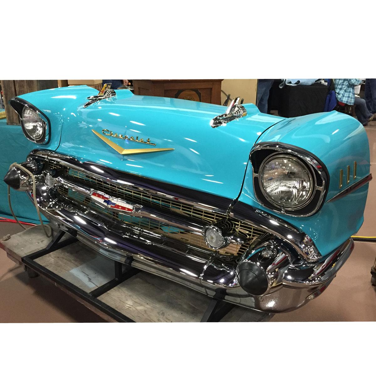 Originele 1957 Chevrolet Carfront Decoratie Turquoise