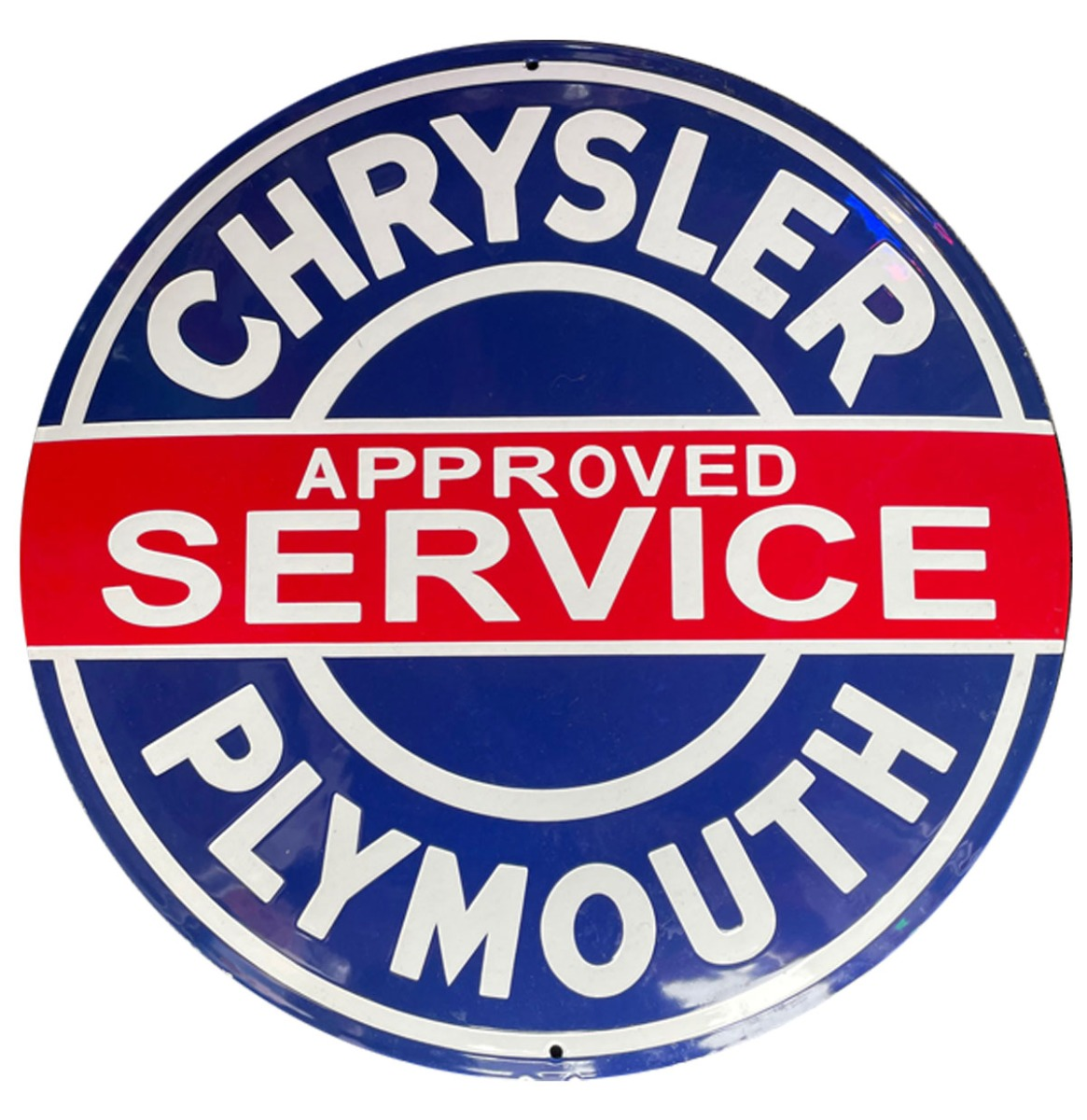 Chrysler Plymouth Approved Service Emaille Bord - 50 cm ø