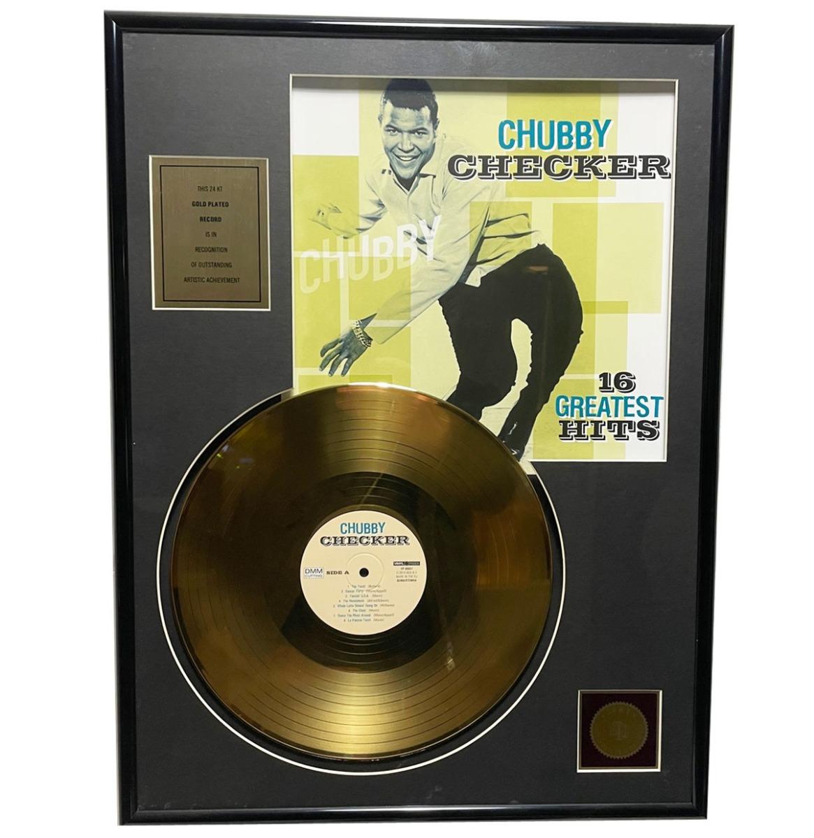 Chubby Checker - 16 Greatest Hits 24KT Gouden Plaat LP