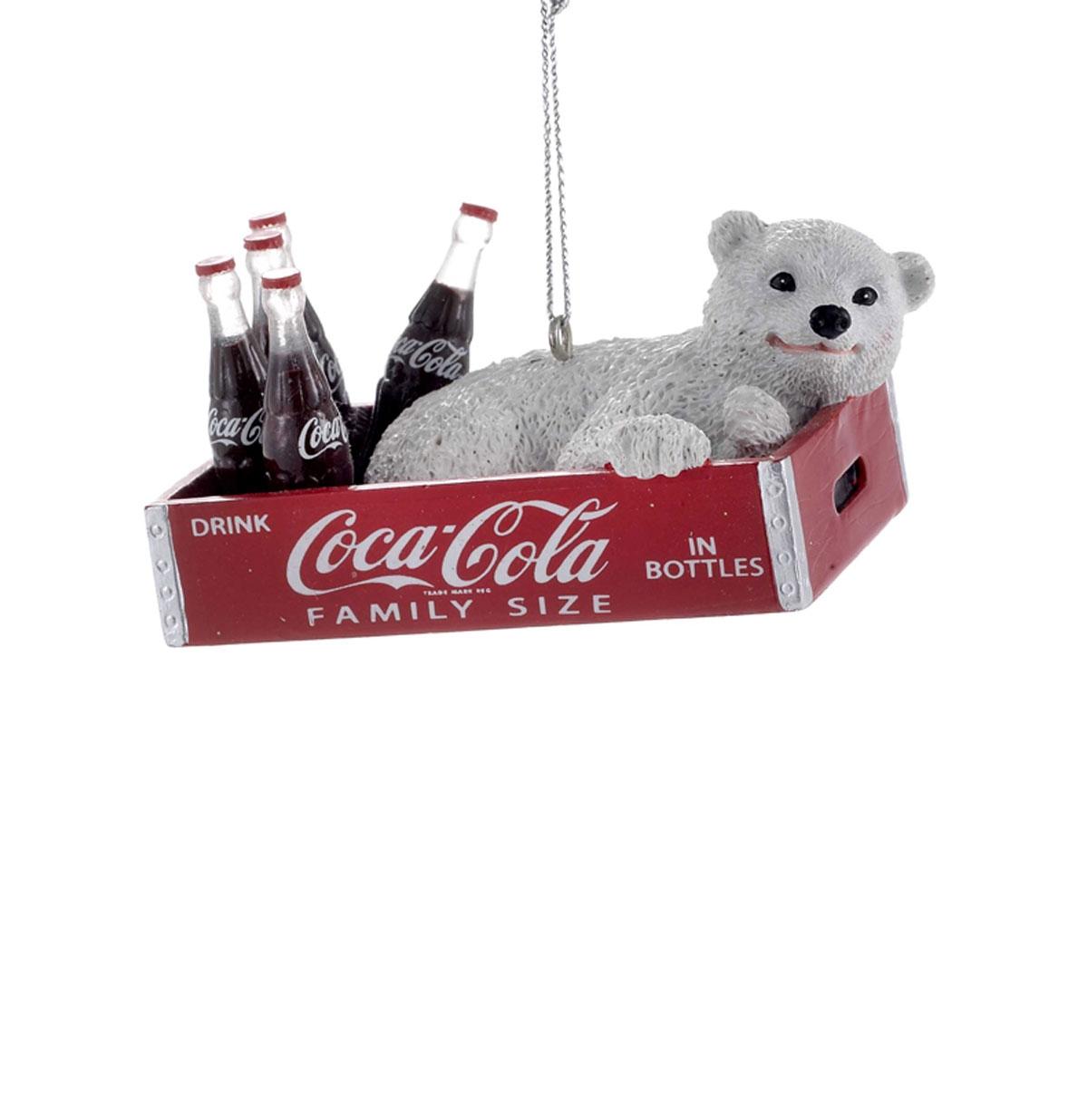 Coca-Cola Polar Bear Cub Christmas Ornament
