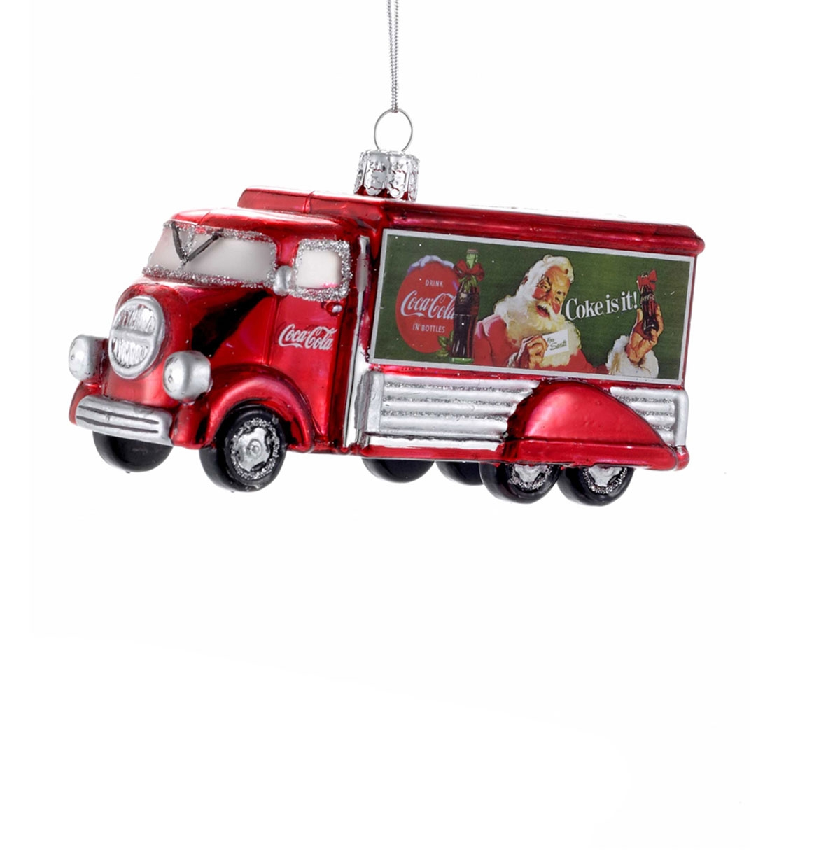 Coca-Cola Truck Glass Christmas Ornament
