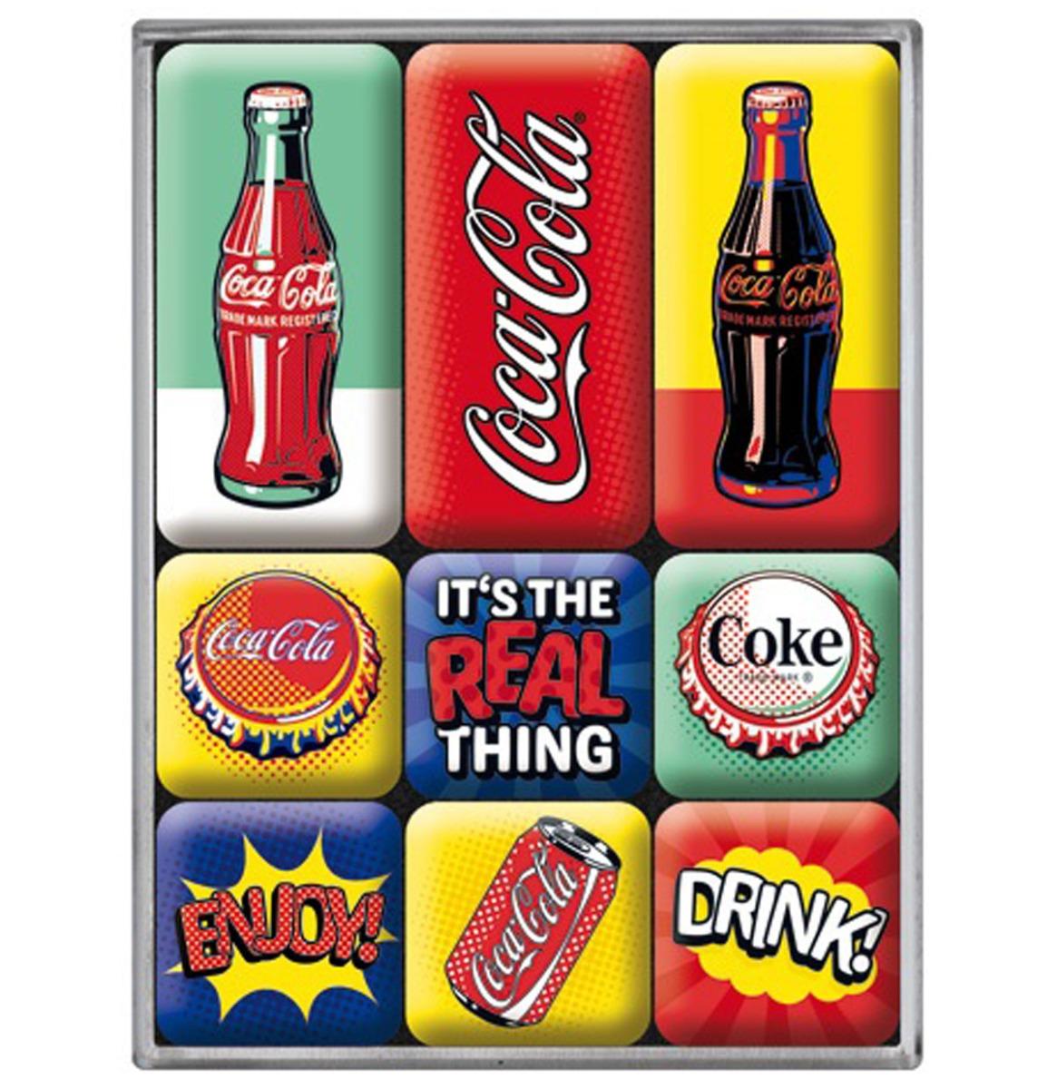 Magneet Set Coca Cola - Pop Art