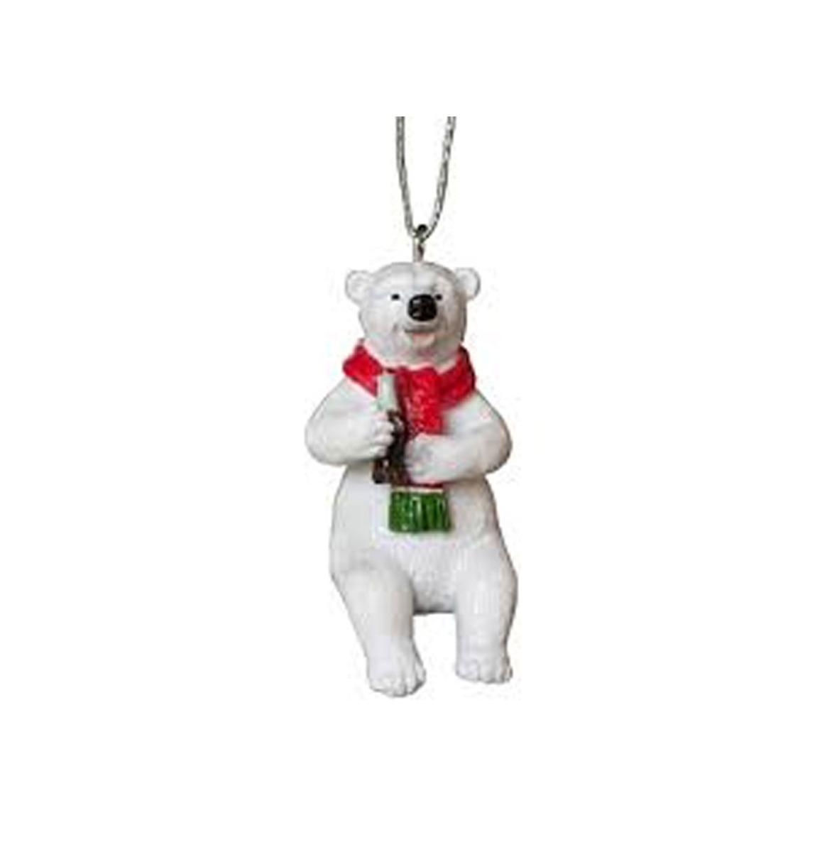 Coca-Cola Polar Bear Sitting Kersthanger