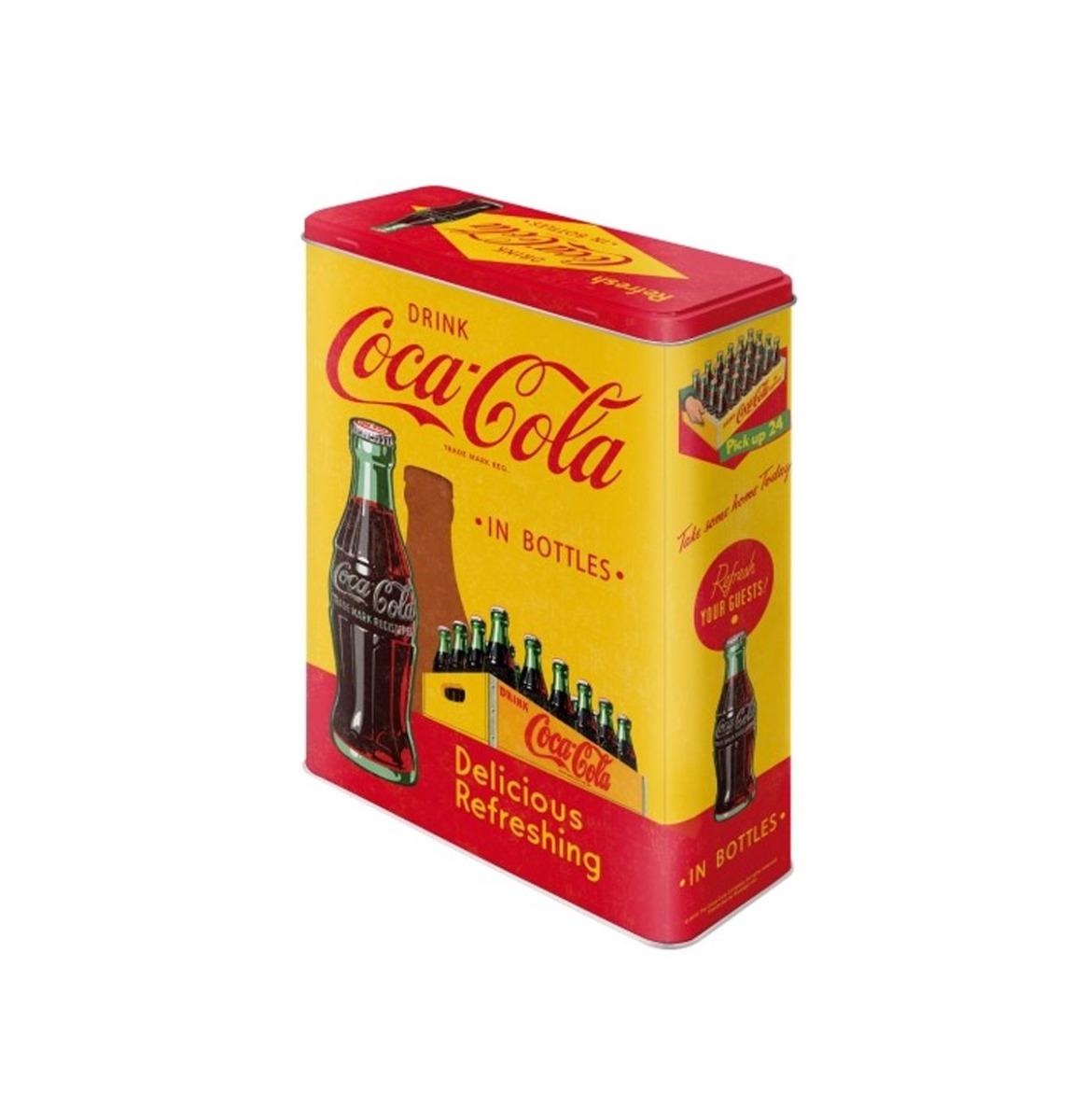 Coca-Cola In Bottles Delicious Refreshing Tinnen Blik XL