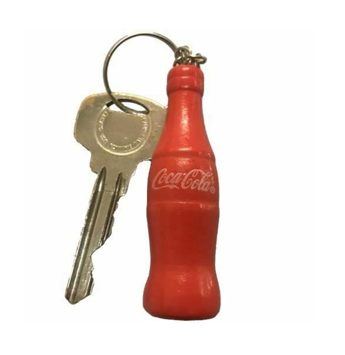Classic Coca-Cola Fles Houten Sleutelhanger - Rood