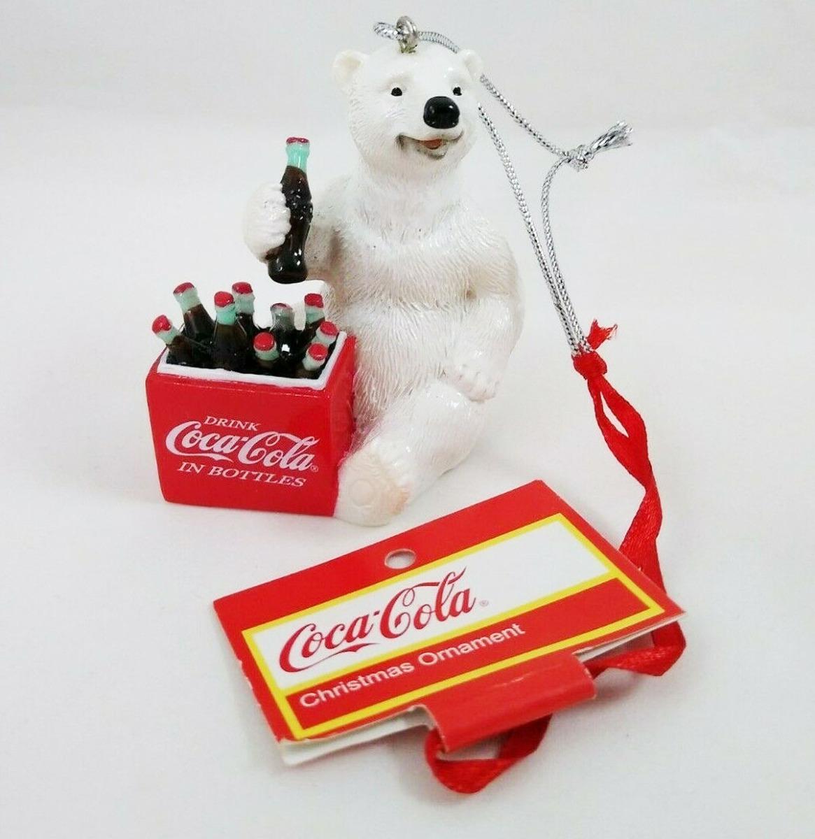 Coca-Cola Polar Bear By Cooler Kersthanger