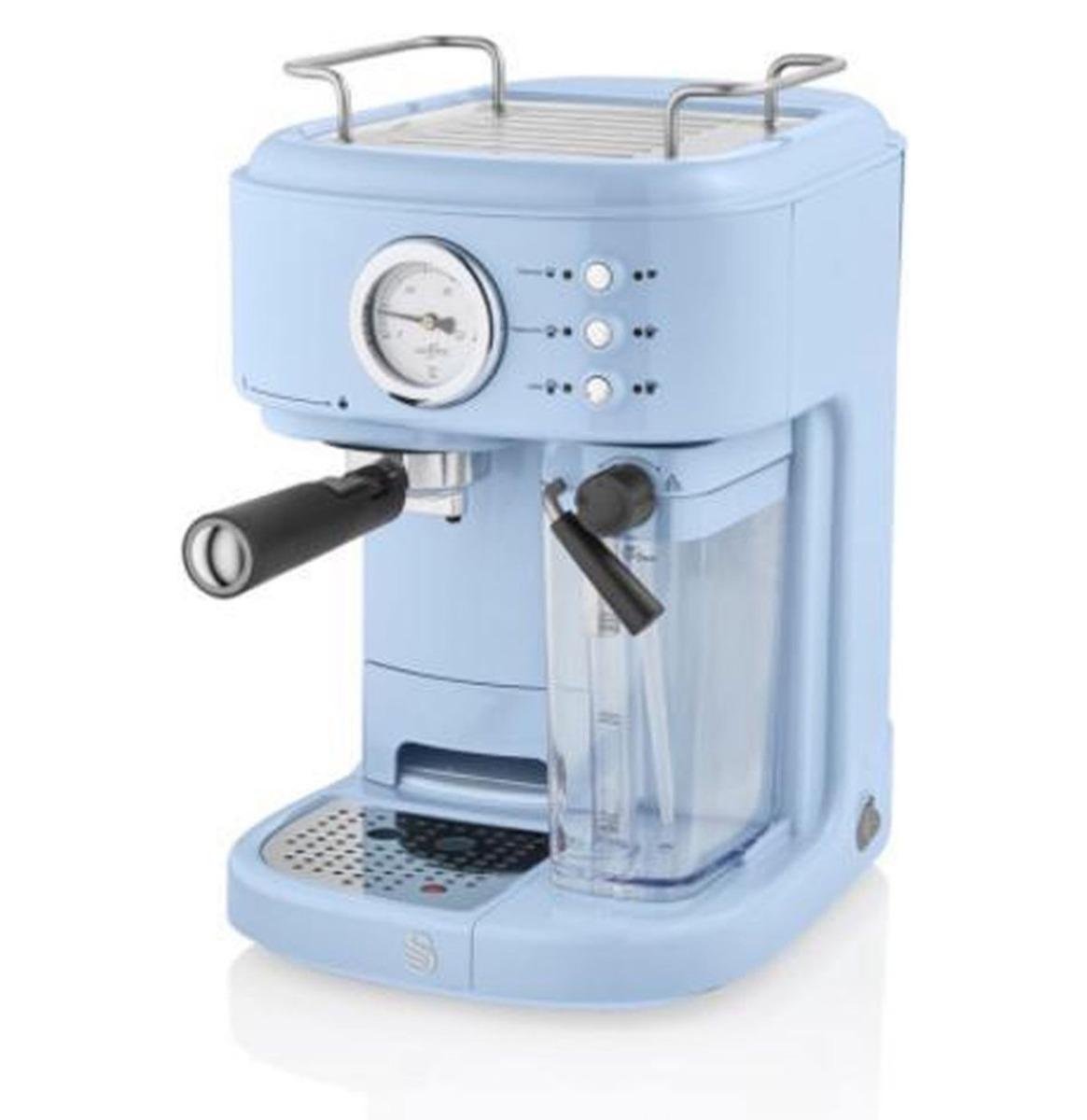 Swan One-Touch Retro Espresso Koffie Machine - Blauw