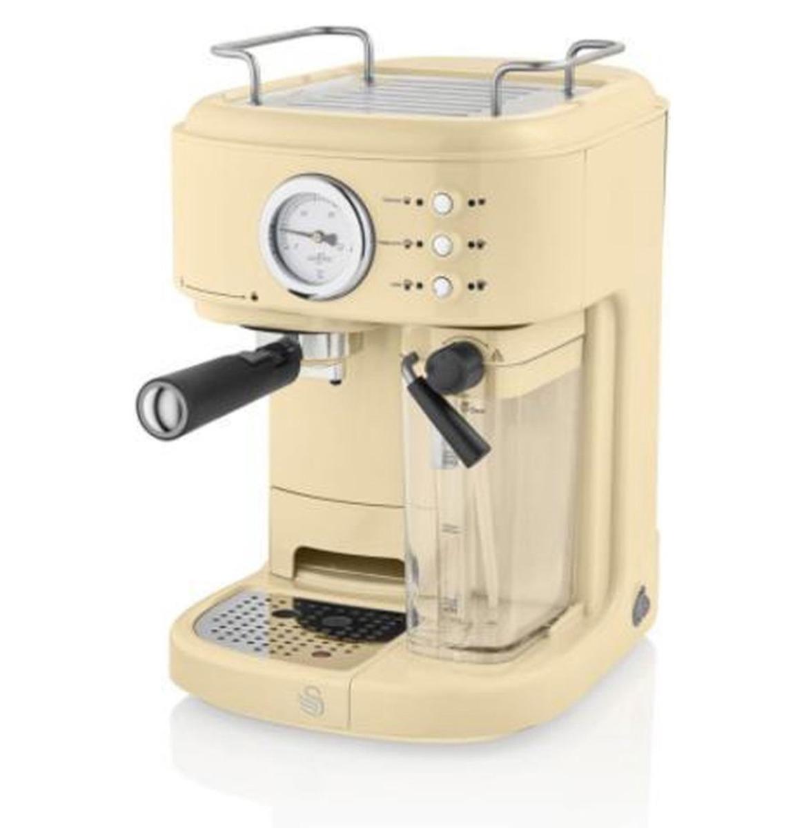 Swan One-Touch Retro Espresso Koffie Machine - Crème