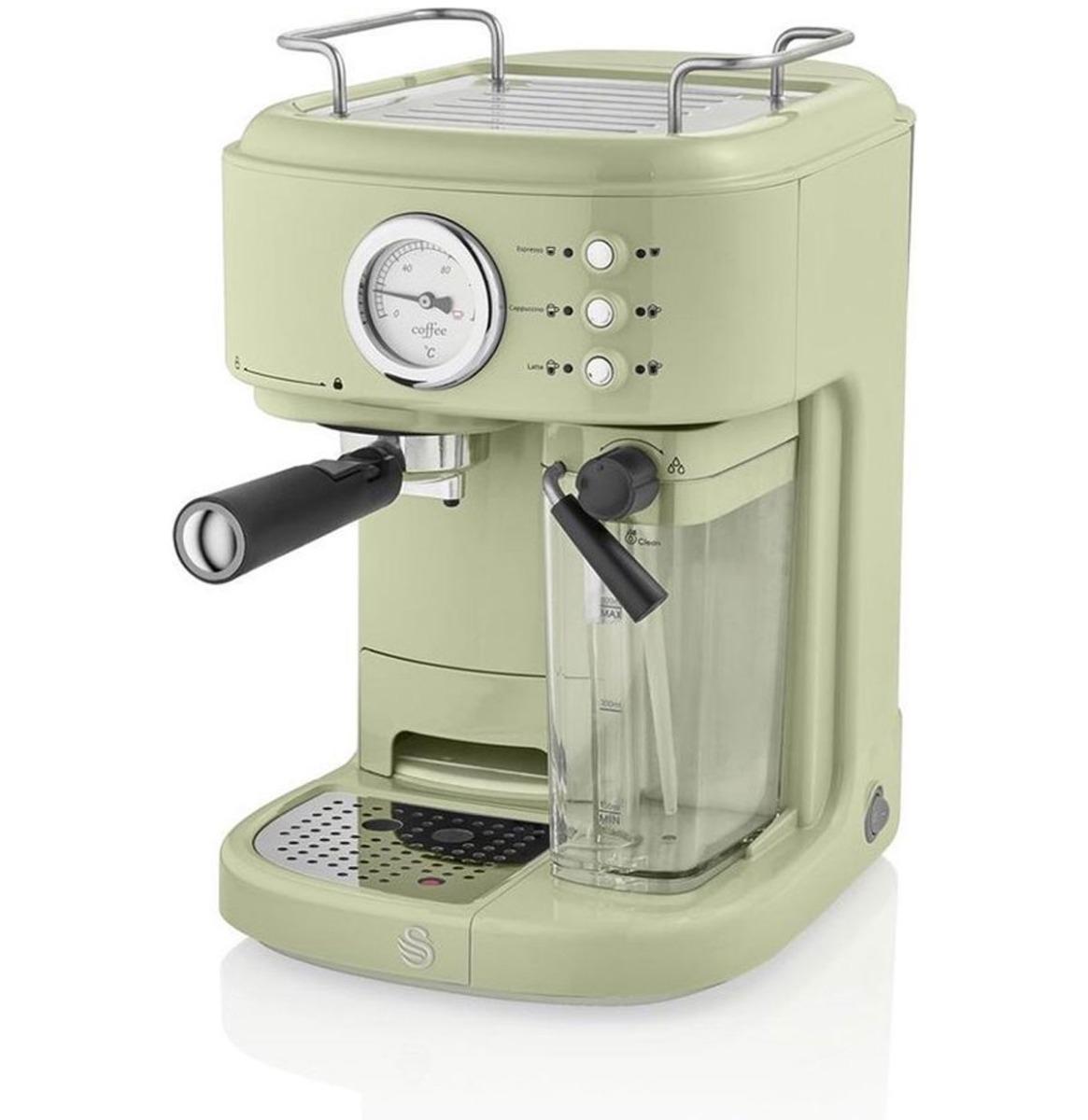 Swan One-Touch Retro Espresso Koffie Machine - Groen