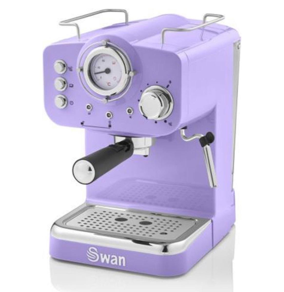 Swan Retro Pump Espresso Koffie Machine - Paars
