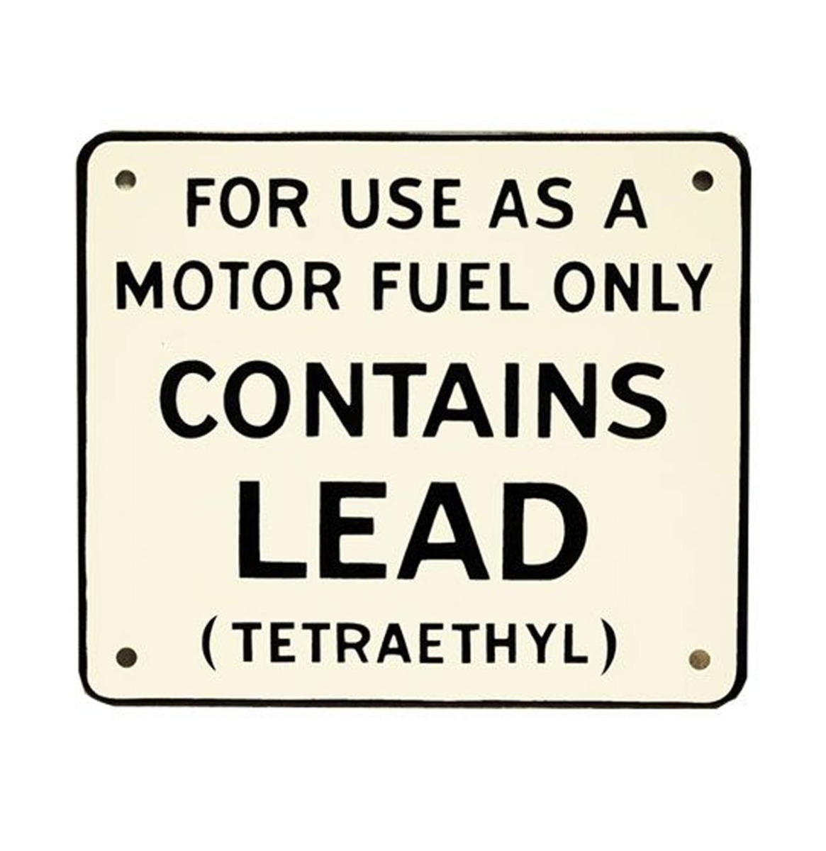 Contains Lead (Sm) Bordje Voor Benzinepomp 18 x 15,5 cm