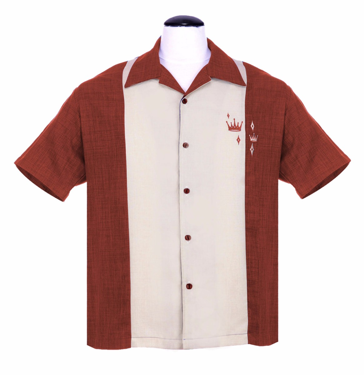 Classic Shirt Contrast Crown Button Up Rusty