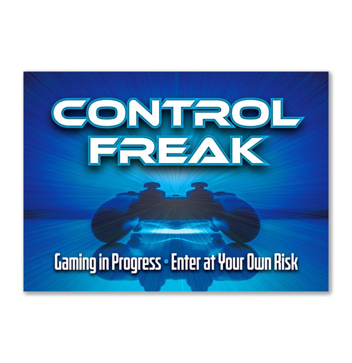 Control Freak - Metalen Bord Met Reliëf - 43 x 31 cm