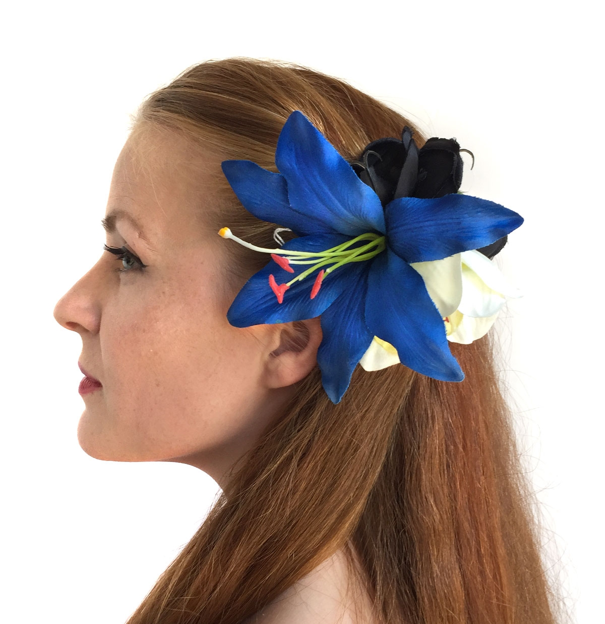 HM Corsage Jess Lily Orchid Dark Blue