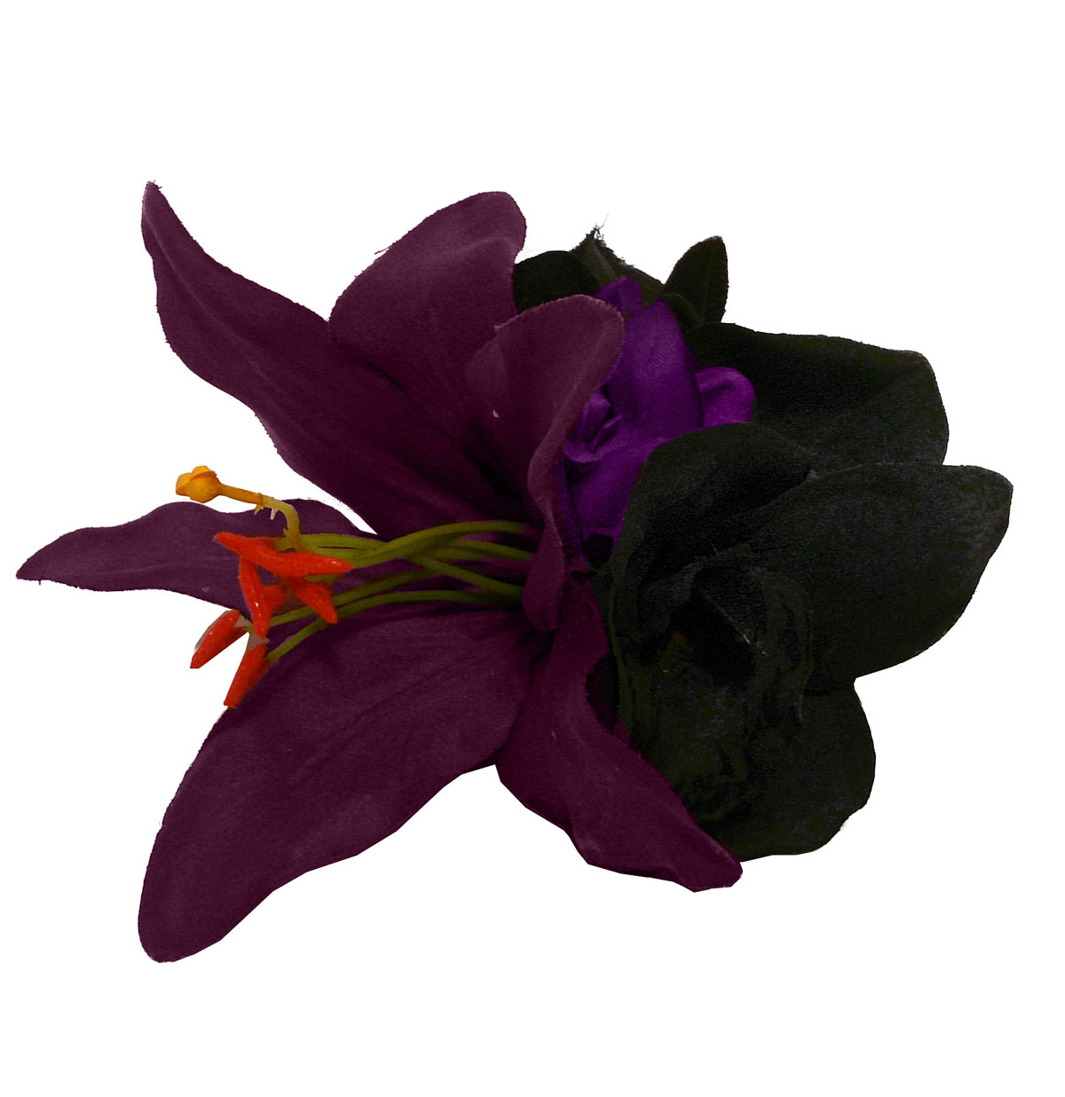 HM Corsage Lily Purple Black