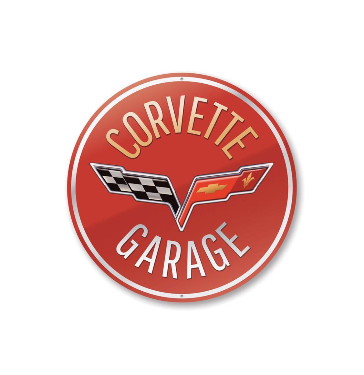 Corvette Garage Car Bord