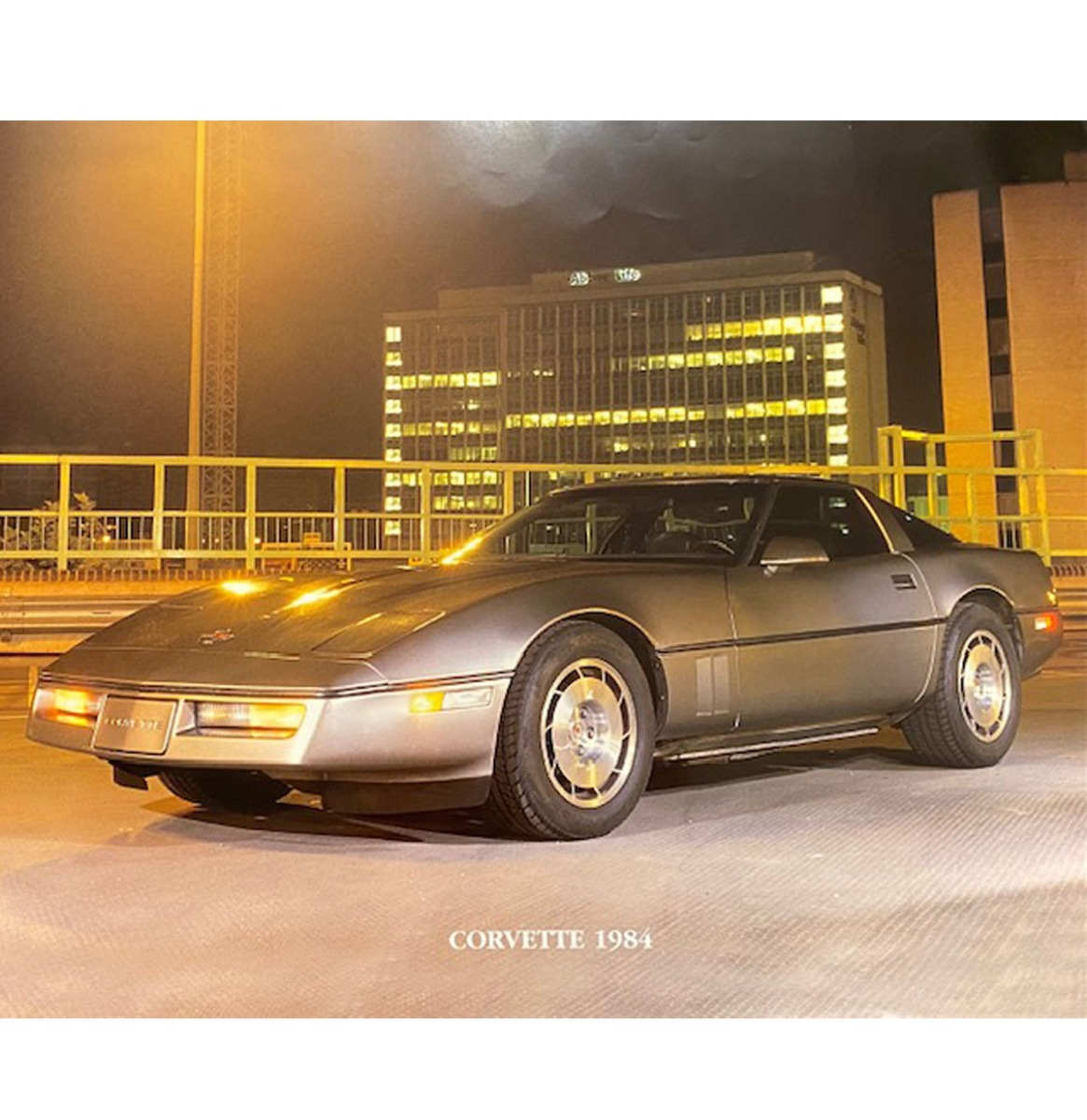 Auto Poster Corvette 1984 40x50cm