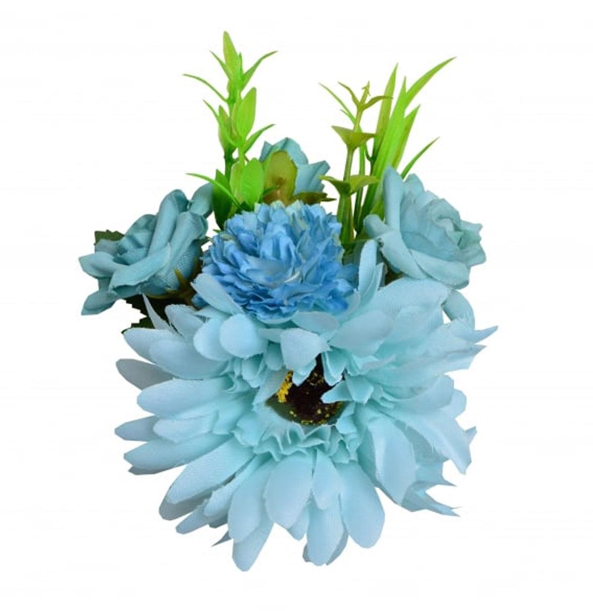 Country Garden Gerbera Hair Clip Blauw