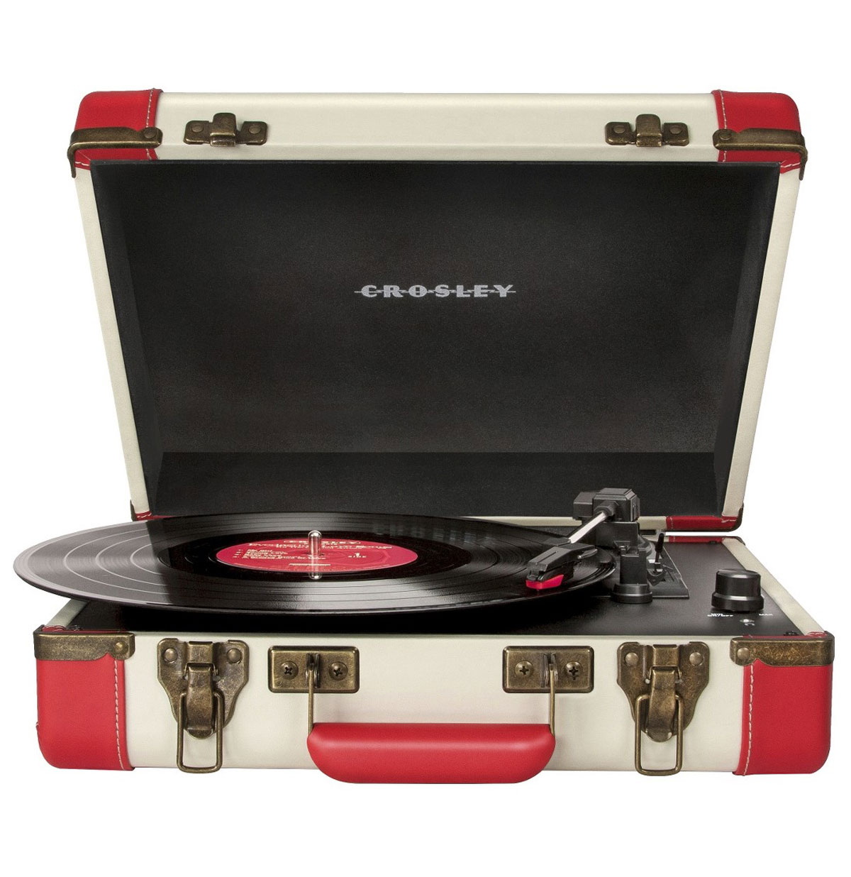 Crosley Executive Portable USB Platenspeler - Rood/Creme
