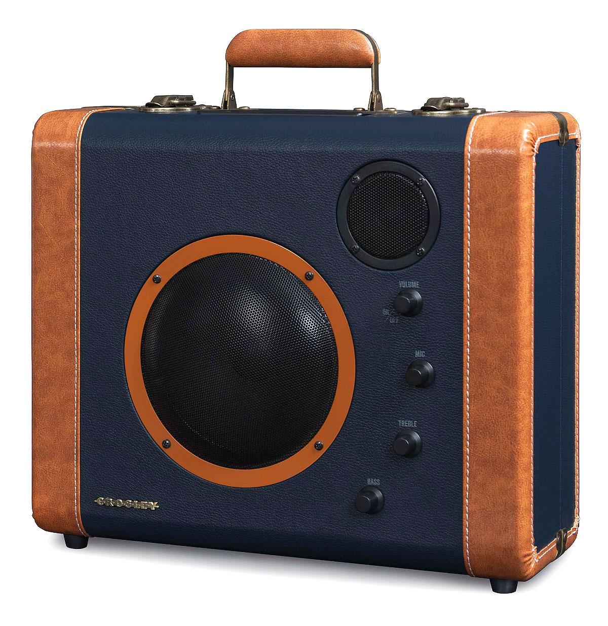 Crosley Soundbomb Portable Speaker System Blauw - Vintage Suitcase