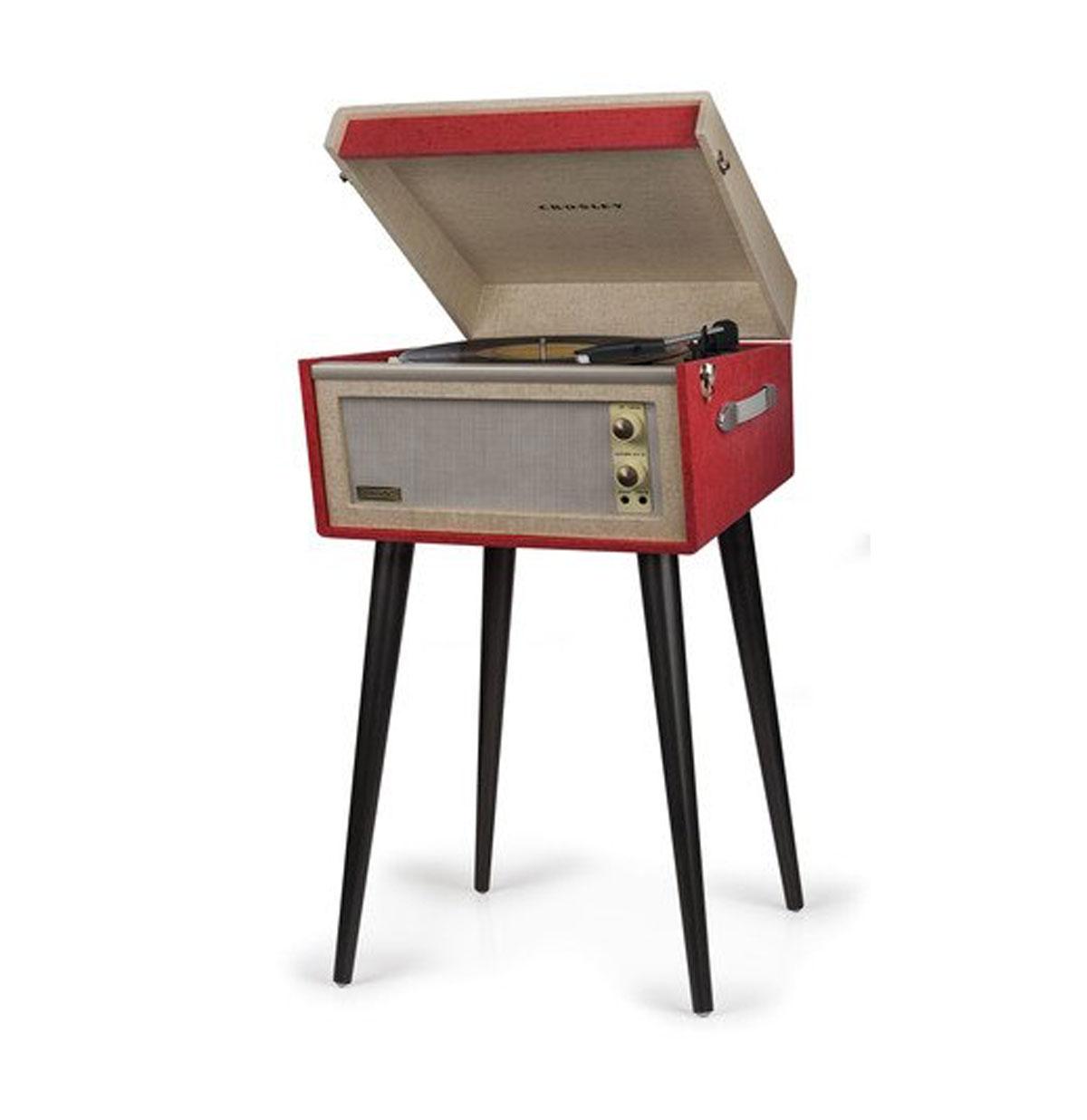 Crosley Dansette Bermuda Vinyl Platen Speler - Rood Bluetooth - B-Stock